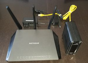 Netgear router and ARRIS Cable modem for Spectrum/Charter for Sale in Covina, CA