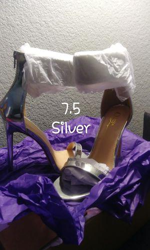 Silver heels for Sale in North Las Vegas, NV