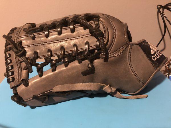 "Grey Adidas EQT 12.5"" LHT baseball glove"