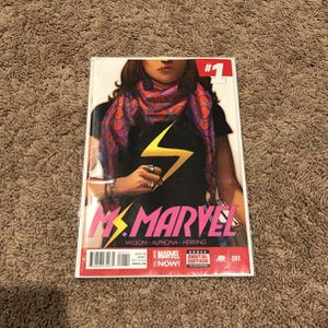 Ms. Marvel Comic Number 001 for Sale in Tampa, FL