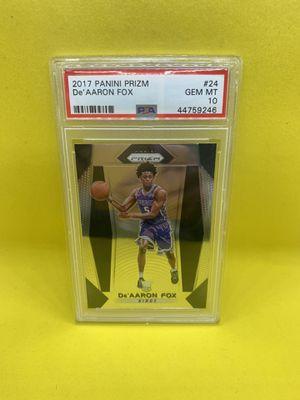 De'Aaron Fox Panini Prizm Rookie for Sale in Huntington Beach, CA