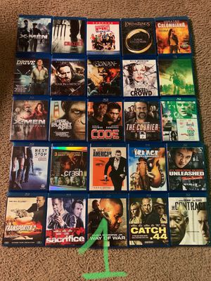 25 BLU RAY MOVIES FOR $100 for Sale in Garland, TX