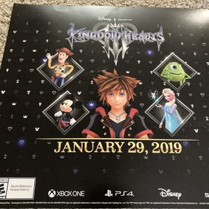 Kingdom Hearts 3 Release Poster for Sale in Austin, TX