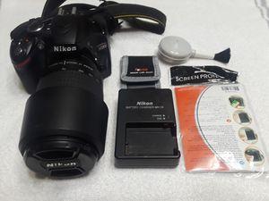 Nikon Camera D3200 24.2 MP DSLR with AF 70-300mm Lens for Sale in Houston, TX