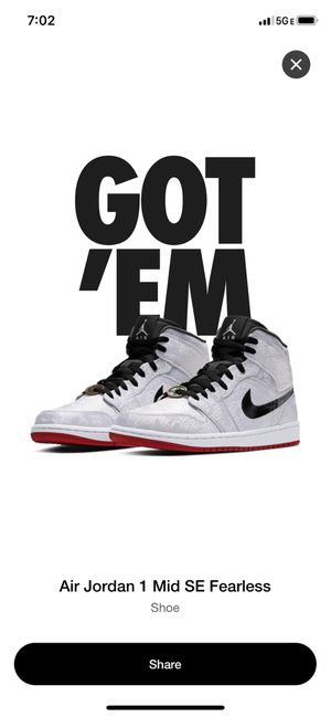 CLOT Air Jordan 1 Mid Fearless size 9 RARE SIZE for Sale in Industry, CA
