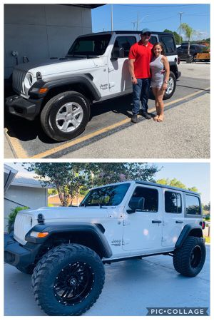 2019 Jeep Wrangler sport stock wheels and tires for Sale in Tampa, FL