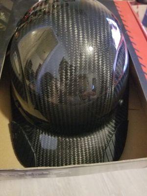 Casco estilo gorra negro mate y negeo glos fibra de carbon 90 for Sale in Ontario, CA