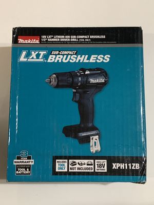 Makita 18-Volt LXT Lithium-Ion Sub-Compact Brushless Cordless 1/2 in. Hammer Driver Drill XPH11ZB for Sale in Garden Grove, CA