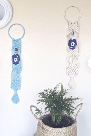 Evil Eye Macrame Wall Hanging for Sale in San Diego, CA