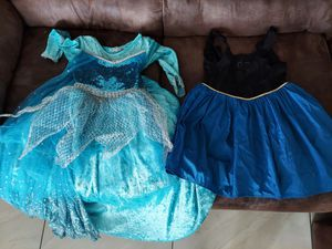 Queen Elsa costume dress - fits about 4t-6 for Sale in Dunedin, FL