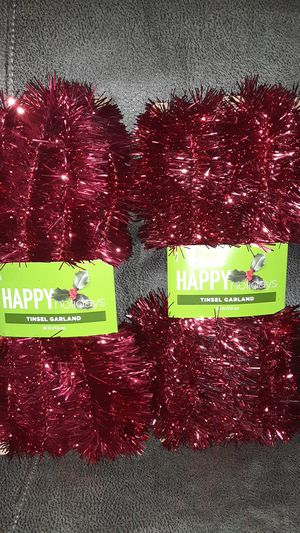 Tinsel garland for Sale in Hilliard, OH