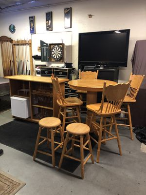 Mini Bar + Pub Table + 4 Bar Chairs + 2 Bar Stools Set for Sale in Rancho Cucamonga, CA