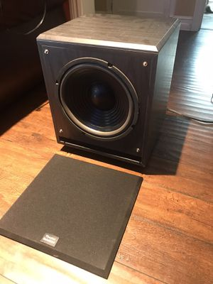 Acoustic Audio by Goldwood Home Theater Powered Subwoofer Black Down Firing Sub Specifications Acoustic Audio Specialty Series Home Theater Powered for Sale in Los Angeles, CA