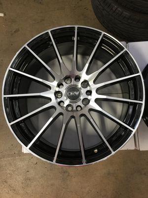 "Brand New 17"" Inch Diablo D15 Black Machined Face 17X7 Wheels Rims Rines 5X100 5X3.94 5X114.3 5X4.5 for Sale in Austin, TX"