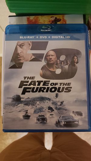 Fate of the Furious (F8) DVD/Blu-Ray Combo for Sale in Farmville, VA