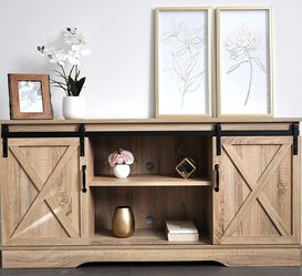 "New Natural Farmhouse TV Stand for TVs up to 65"" for Sale in Hacienda Heights,  CA"