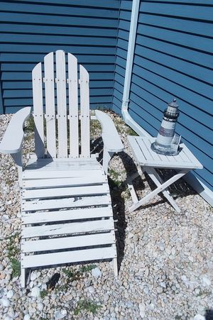 Adirondack chair, footrest, table for Sale in Lakewood Township, NJ