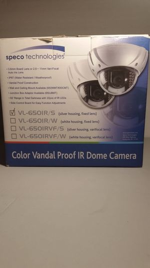 Color vandal proof ir dome camera VL-650IR/S for Sale in Denton, MD