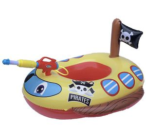 Big Summer Inflatable Pirate Boat Pool Float for Kids with Built-in Squirt Gun, Inflatable Ride-on for Kids Aged 3-7 Years for Sale in Los Angeles, CA