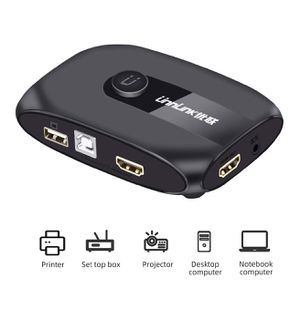 HDMI KVM Switch Unnlink KVM Switch 2 Ports FHD 1080P 60Hz with USB 2.0 Cable Sharing Monitor Printer Keyboard Mouse for 2 Computers Laptops for Sale in Rialto, CA
