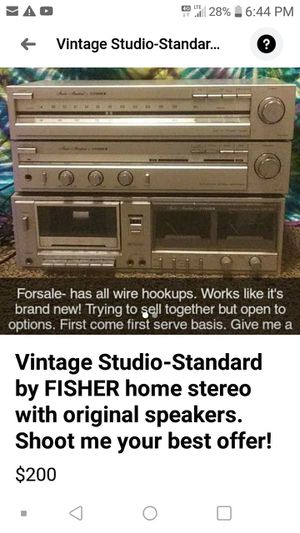 Vintage Fischer Stereo system for Sale in Creve Coeur, IL