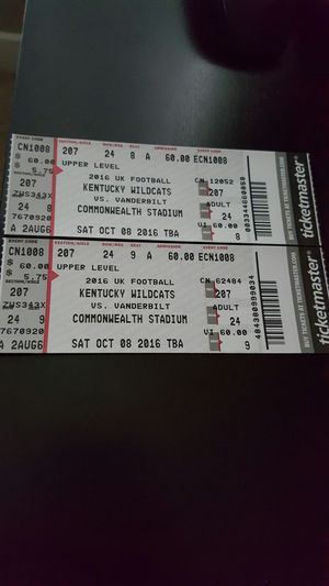 Kentucky football tickets for Sale in Utica, KY