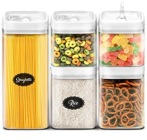 Airtight Storage Containers Set - Best Kitchen Dry Food Containers with Lids - Clear Plastic Food Storage Containers BPA Free - Cereal Storage Contai for Sale in Miami Beach, FL