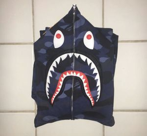 BAPE Blue Camo Shark Hoodie Size XL for Sale in Plano, TX