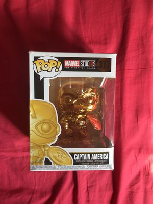 Funko POP! Animation Marvel: Marvel Studios 10 - Captain America (Gold Chrome) Collectible Figure/Toy, Multicolor. for Sale in New York, NY