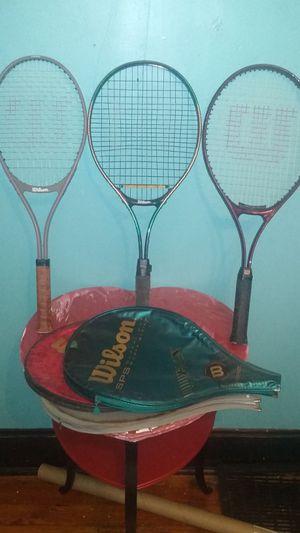 3 Wilson Tennis Rackets with cases for Sale in Warren Park, IN