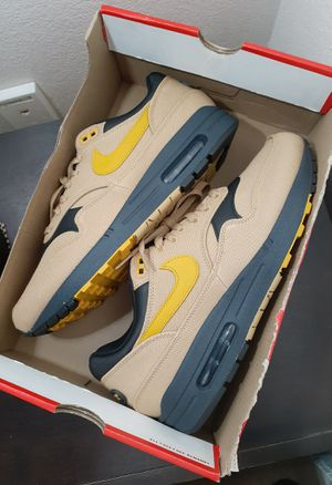 Nike Air Max 1 Premium Elemental Gold/Mineral Yellow 875844-700 for Sale in San Diego, CA