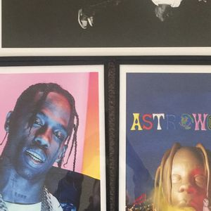 Travis Scott Print And Poster In Glass Frame for Sale in West Covina, CA