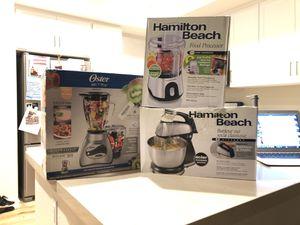 Oster Blender, Hamilton Beach Food Processor, Hamilton Beach Mixer for Sale in Irvine, CA