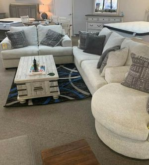 💲39 Down Payment. ❗❗ Soletren Stone Living Room Set Sofa & Loveseat & Accent Chair for Sale in Laurel, MD