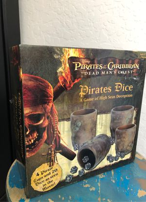 New Disney pirates of the Caribbean dice game - Ages eight and up. 2 to 4 players for Sale in Buckeye, AZ