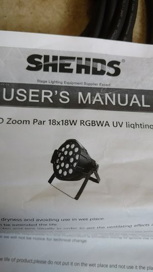 8 NEW SHEDS LED Zoom Par RGBAW UV DJ lighting. for Sale in Vancouver, WA
