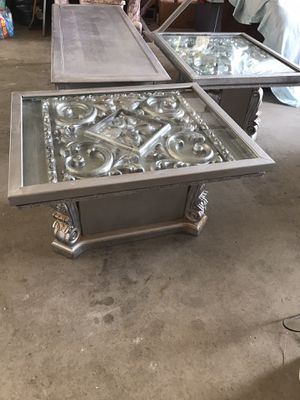 Wood end tables and coffee table (serious buyers only) for Sale in Kingsburg, CA