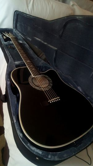 NEW Esteban acustic electric with case and crate acustic amp I lowered the action & installed new Gibson strings sounds great for Sale in Stockbridge, GA
