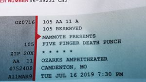 Five finger death punch tickets for Sale in Osage Beach, MO