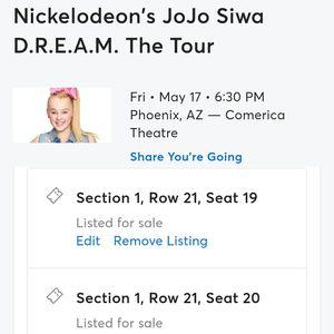 Jojo siwa concerts for Sale in Phoenix, AZ