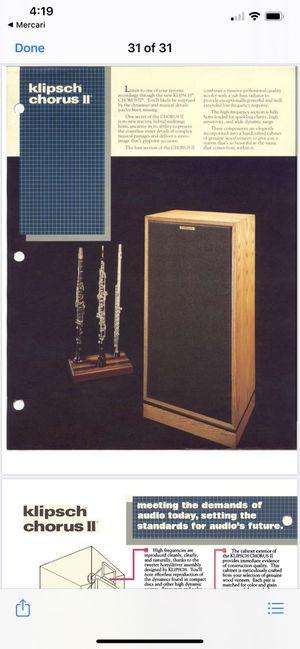 Klipsch vintage speakers for Sale in Stafford, VA