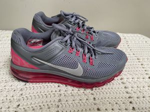 Nike Air max fitsole running shoes sz 8.5 gray/ pink for Sale in Bellflower, CA