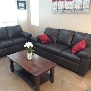 Leather Sofa/ Love Seat for Sale in Santa Clarita, CA