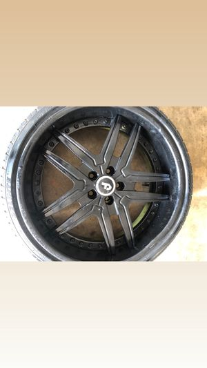 20in Forgiatos vizzo staggered rims and tires $1400 for Sale in Norcross, GA