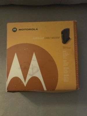 Motorola cable modem for Sale in Tampa, FL
