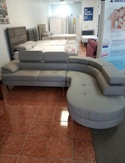 (SHOWROOM) [F6984] 2-PCS SECTIONAL FAUX LEATHER [ONLY $50 DOWN AND 90 DAYS TO PAY SAME AS CASH] for Sale in Irving,  TX