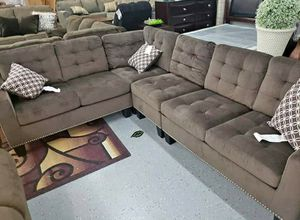 ☑ Special for Black Friday ‼ SPECIAL] Lantana Chocolate Reversible Sectional 14 for Sale in Jessup, MD