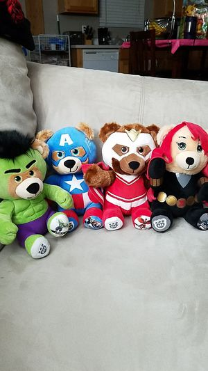 Build a bear Marvel mini series for Sale in Puyallup, WA
