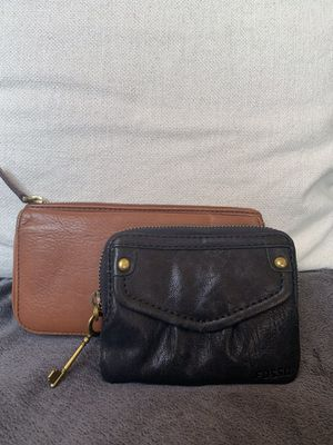 Fossil Wallets %100 Leather - one black & one brown for Sale in Poway, CA