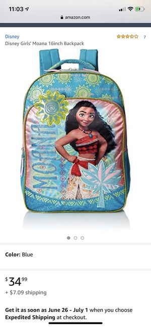 """Brand new 16"""" Moana backpack with tags Never Used for Sale in San Jose, CA"""